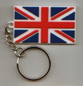 Great Britain Country Flag Soft PVC Keyring.